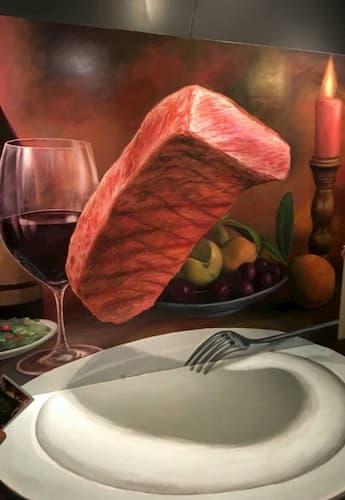 神戸トリックアートのお肉