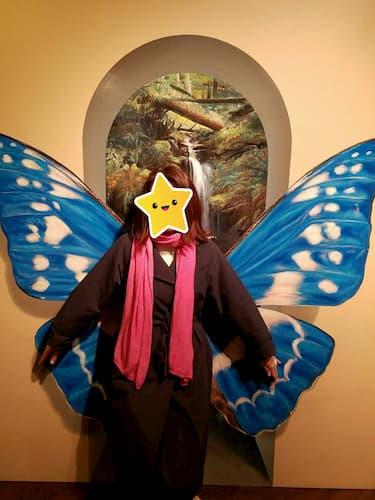 神戸トリックアートで蝶になりました