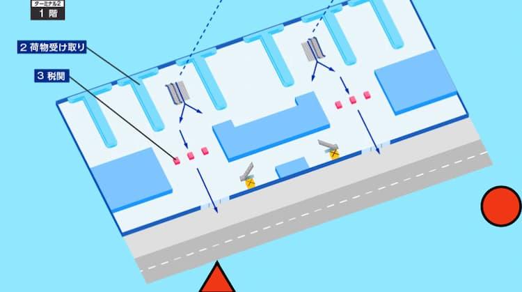 ノイバイ空港のマップ