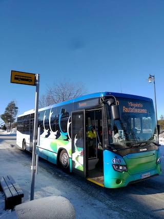 サンタクロース村へ行くバス