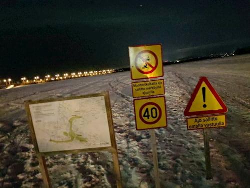 ロヴァニエミの湖の注意事項