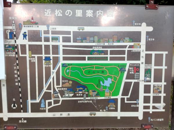 兵庫県尼崎市の近松公園の地図