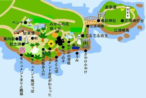 童話の園の地図