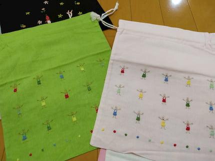 ベトナムハノイ高級刺繍タンミ-の巾着