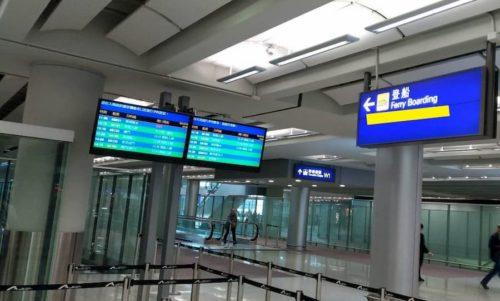香港ターミナルの案内図