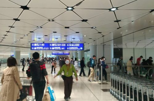 香港での案内図