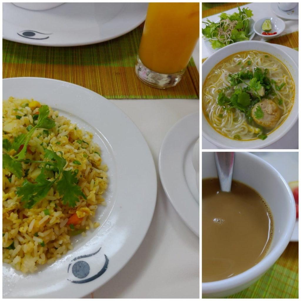 ベトナムフエのホテルの朝食