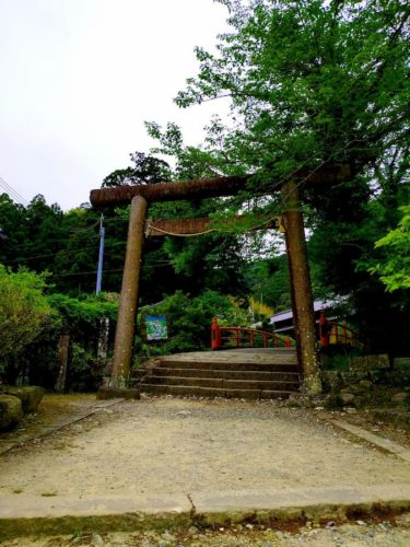 熊野古道への入り口の鳥居