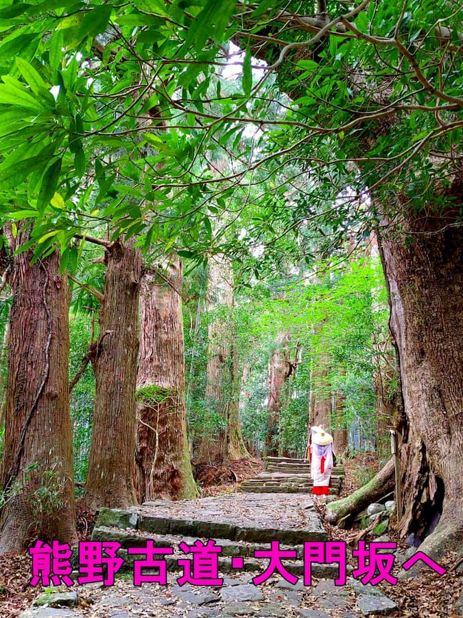 熊野古道と平安衣装のアイキャッチ