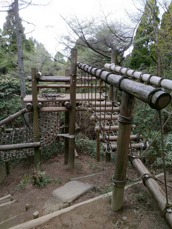 六甲山アスレチックのアスレチック
