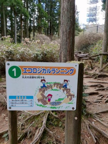 六甲山アスレチックのエコロジカルカンニング