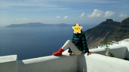 サントリーニ島と景色