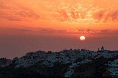 【サントリーニ島】イアから眺める最高の夕日(サンセット)