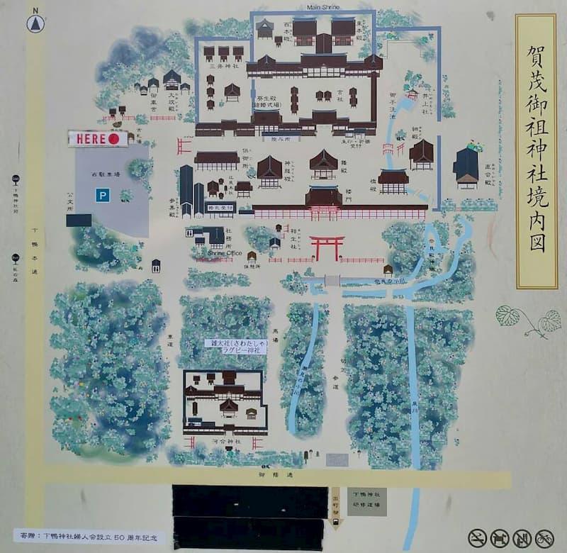 下鴨神社の境内案内図