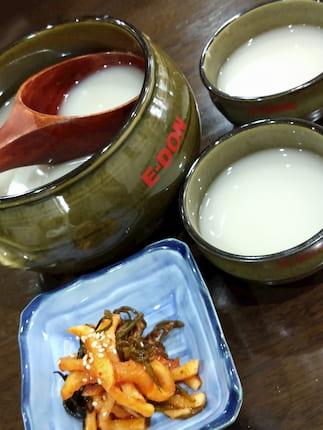 韓国料理マッコリ