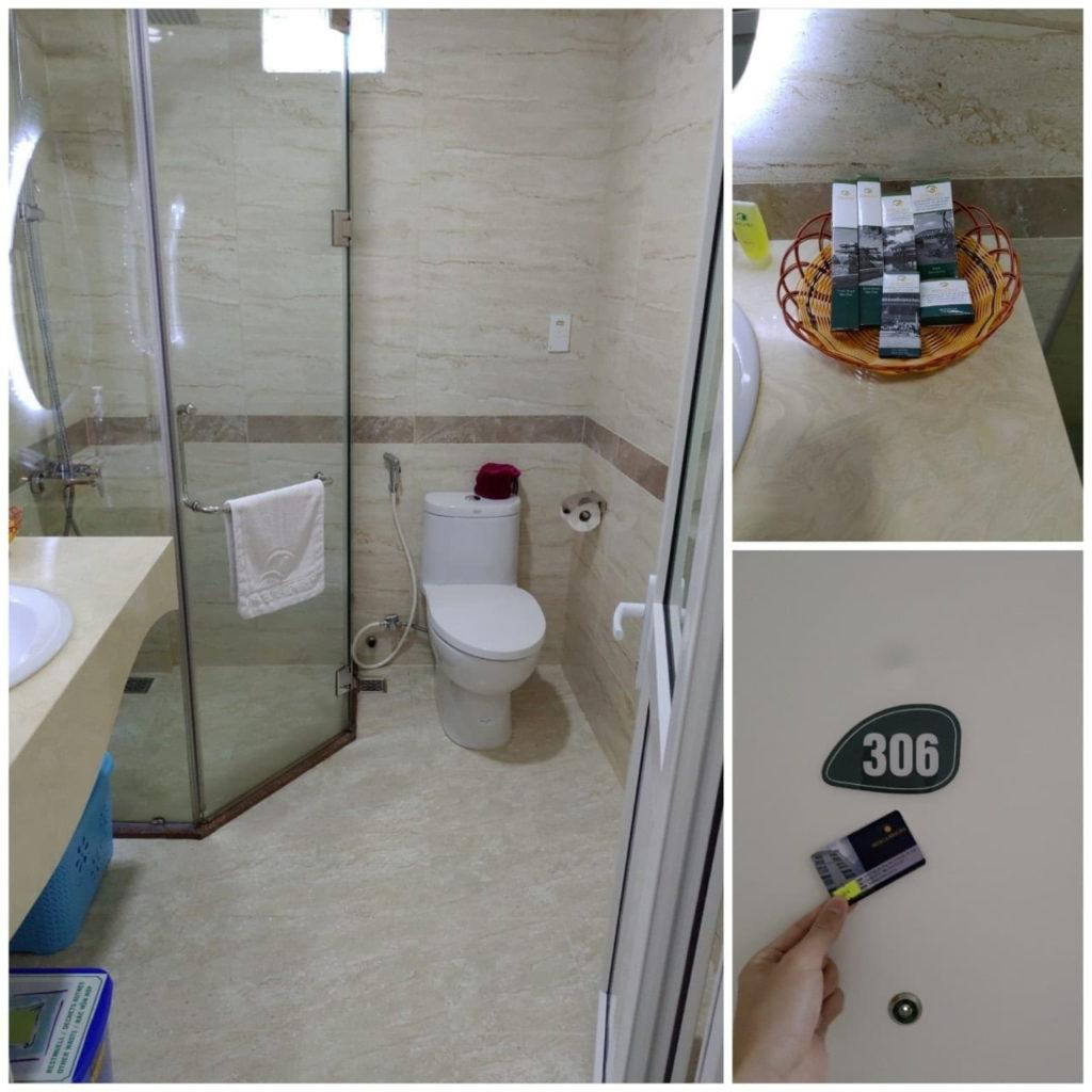 ベトナムフエのホテルの浴室