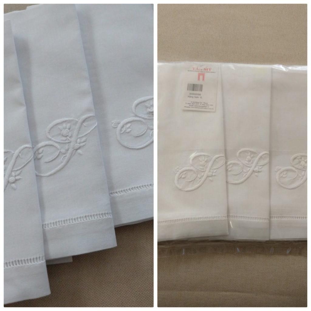 ハノイ高級刺繍タンミ-のテーブルクロス