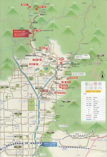 京都洛北の地図