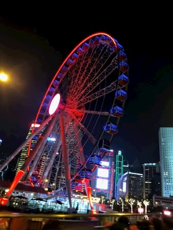 香港の2階建てバス5