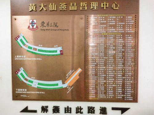 黄大仙寺院の占い市場-香港