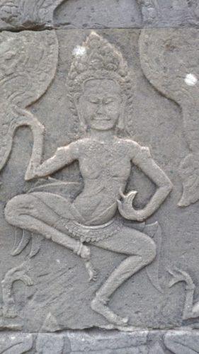 アンコールトムの彫刻