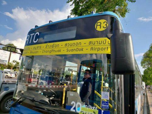 チェンマイの市内へ行くバス