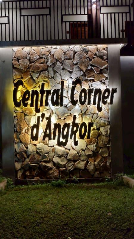 カンボジアのホテルのエントランス