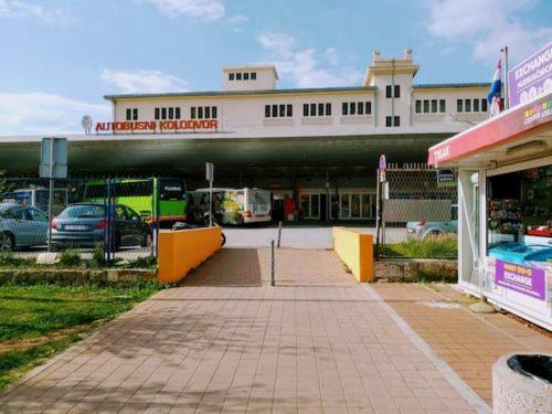 ドブロブニクの長距離バス停