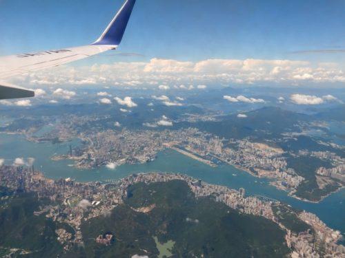 地上からの香港の眺め