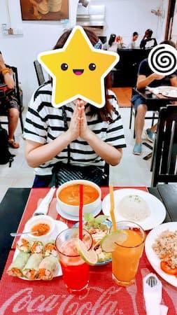 カンボジアのシェリムアップのリリ-ポップ