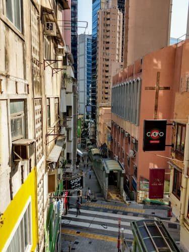 ミッドレベルエスカレ-タ-香港