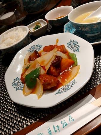 本町-華都飯店の酢豚
