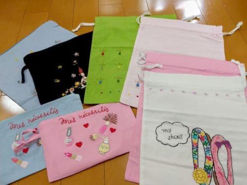 タンミ-高級刺繍巾着-ベトナムお土産