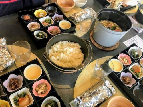 滋賀のクラブエレメントの朝ご飯