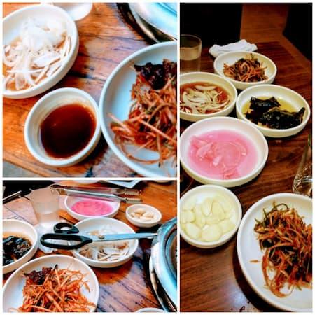 釜山の焼肉屋ポドチョンのおまけ料理