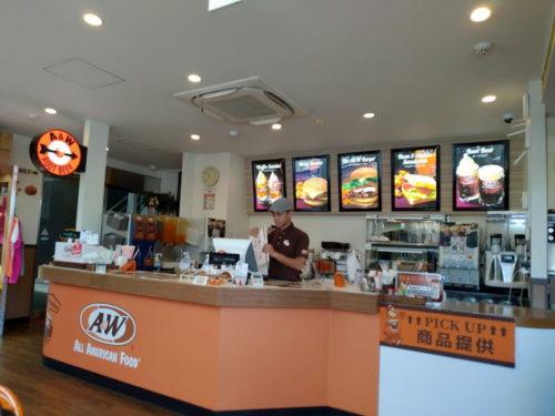 沖縄A&Wの店内