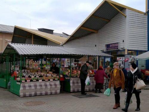 ラトビアのリガ中央市場のお店