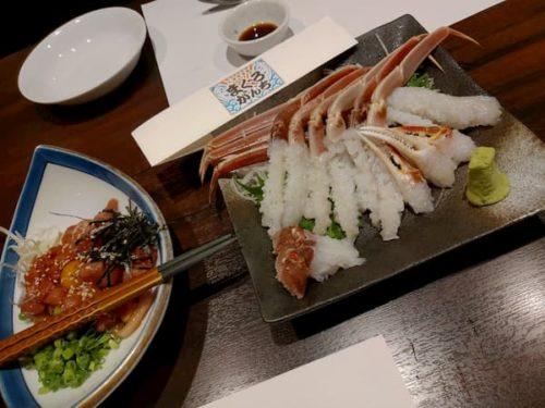 金沢まぐりがんちの蟹刺し1