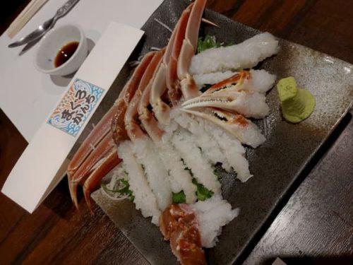 金沢まぐりがんちの蟹刺し