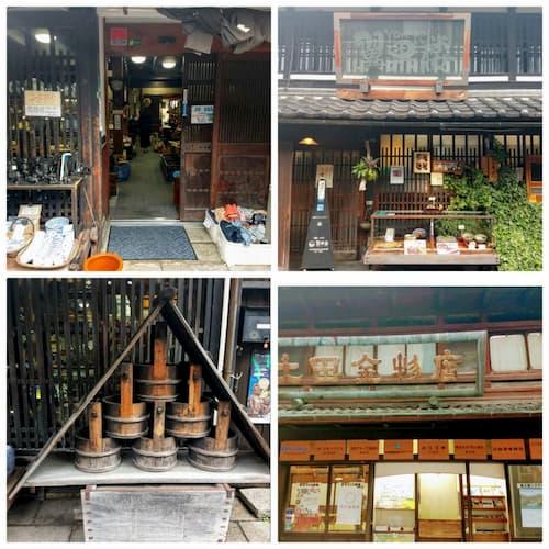 滋賀県長岡駅の古い街並