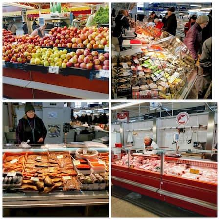 ラトビアのリガ中央市場の食材