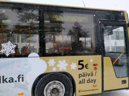 サーリセルカのバス