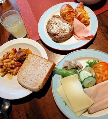 フィンランドのサ-リセルカインマヤタロパニモの朝食