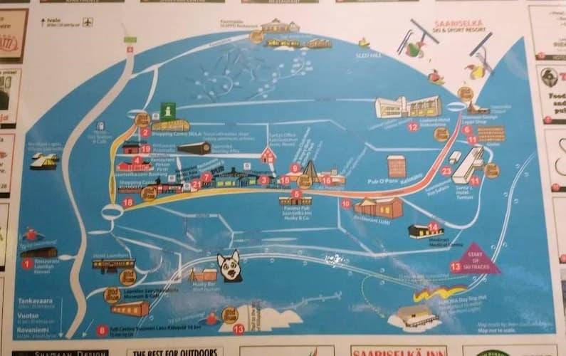 フィンランドのサ-リセルカの地図