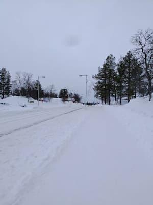 フィンランドのサ-リセルカの冬景色