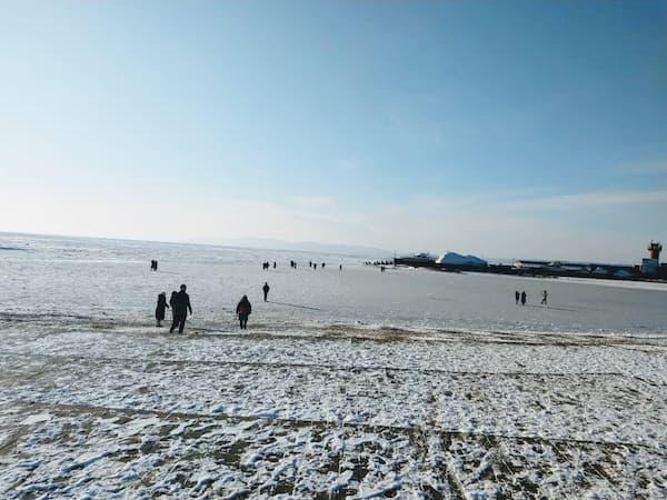 ウラジオストクの冬の海