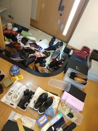 持っている靴の全出し